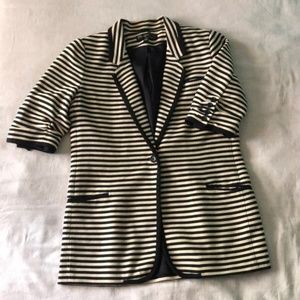 Elizabeth and James Striped Knit Blazer size 8